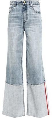 P.E Nation Ballout Two-tone High-rise Wide-leg Jeans