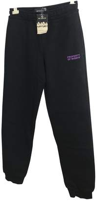 Misbhv Black Cotton Trousers