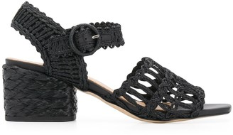 Paloma Barceló Melani braided raffia 65mm sandals