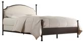 Metal Linen Upholstered Bed