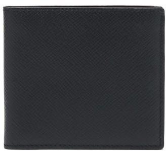 Smythson Panama Leather Bi-fold Wallet - Navy