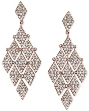 Effy Diamond Mesh Chandelier Earrings (1-1/4 ct. t.w.) in 14k Rose Gold