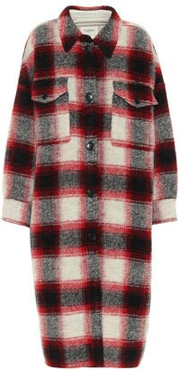 Etoile Isabel Marant Gabrion checked wool-blend coat