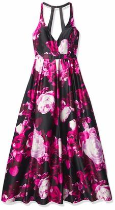 Jump Junior's Floral Printed Halter Gown