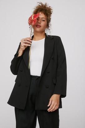 Nasty Gal Womens Mind Your Business Plus Oversized Blazer - Black