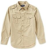 Ralph Lauren Big Boys 8-20 Poplin Utility Shirt