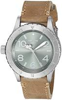 Nixon Women's A4672217-00 38-20 Leather Analog Display Japanese Quartz Brown Watch
