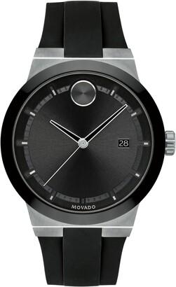 Movado Bold Fusion Silicone Strap Watch, 42mm