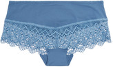Cosabella Edith mid-rise guipure lace-trimmed stretch-jersey briefs