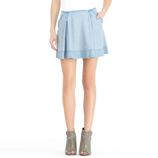 Rachel Roy Twill Mini Skirt