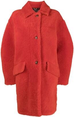 Mr & Mrs Italy Oversized Shearling Coat
