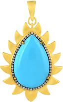 Turquoise and Diamonds Flame Pendant