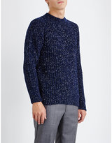 Sandro Blue Boredom Knitted Jumper