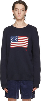 Polo Ralph Lauren Navy The Iconic Flag Sweater