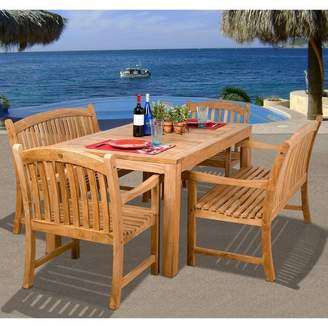 Holmes Amazonia 5-Piece Teak Rectangular Patio Dining Furniture Set
