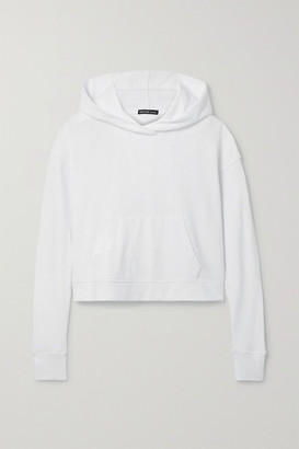 James Perse Cropped Cotton-jersey Hoodie - White