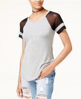 Ultra Flirt Juniors' Illusion-Sleeve Rugby T-Shirt