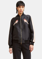Stella McCartney Women's Embroidered Bomber Jacket in Black