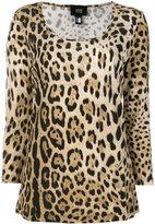 Class Roberto Cavalli scoop neck leopard T-shirt