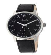 Simplify Unisex Black Strap Watch-Sim3402