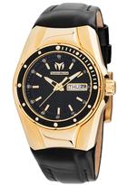 Technomarine Black & Goldtone Silicone Cruise Bracelet Watch