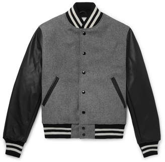 GoldenBear Golden Bear The Albany Wool-Blend And Leather Bomber Jacket