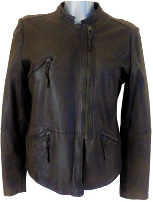 Les Petites Brown Leather Jacket for Women