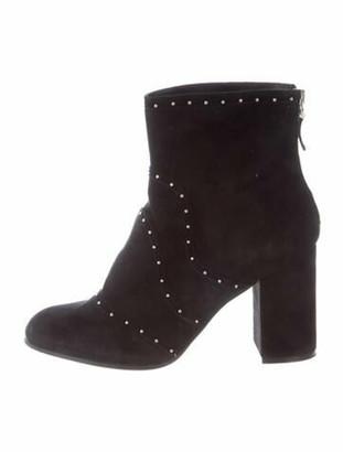 Belstaff Suede Printed Boots Black
