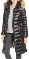 Kate Spade Quilted Down Jacket With Faux Fur Trim