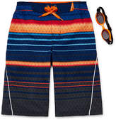 ZeroXposur Rippled Stripe Swim Trunks - Boys 8-20
