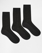 Lovestruck 3 Pack Socks In Gray Cable Knit