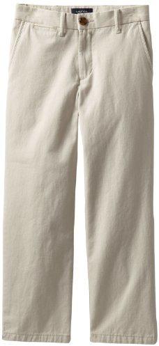 Nautica Sportswear Boys' Flat Front Twill Pant