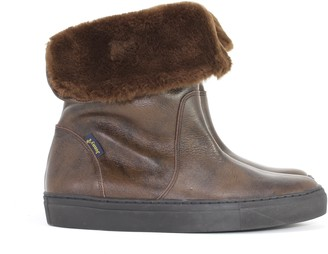 Jonny's Maroon Dark Brown Winter Boots - 38 - Leather /Black