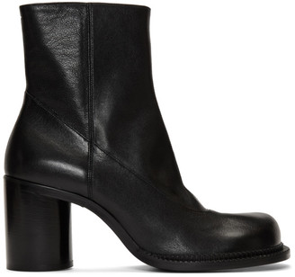 Maison Margiela Black Leather Zip Boots