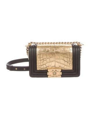 Chanel Small Alligator Boy Bag Gold