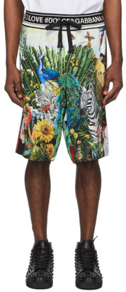 Dolce & Gabbana Multicolor Mix Hawaii Shorts