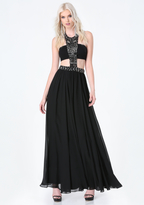 Bebe Jeweled Bandeau Gown