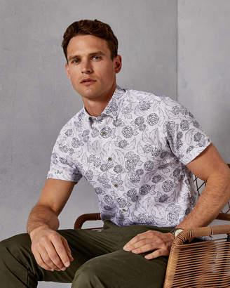 Ted Baker TEVAL Floral print cotton shirt