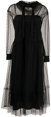 RED Valentino Point D'esprit Hooded Tulle Dress