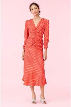 Rebecca Taylor Sunrise Dot Jacquard Dress