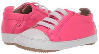 Old Soles Eazy Jogger (Infant/Toddler) (Neon Pink/Snow) Girl's Shoes