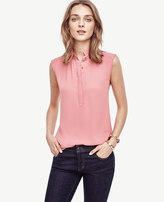 Ann Taylor Ruffle Collar Sleeveless Top