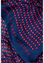 Marc by Marc Jacobs Fiery Fuchsia/Multi Isabella Dot Scarf
