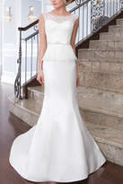 Justin Alexander Satin Mermaid Gown