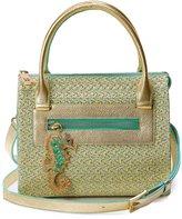 Eric Javits Rio Squishee® Satchel Bag, Patina/Gold