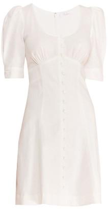 Parker Kierra Puff-Sleeve Mini Dress