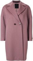 Les Copains buttoned cocoon coat