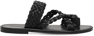 Saint Laurent 10mm Neil Woven Leather Thong Sandals