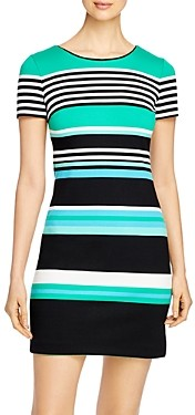 Karl Lagerfeld Paris Short-Sleeve Striped Dress