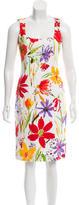 Dolce & Gabbana Floral Print Sheath Dress